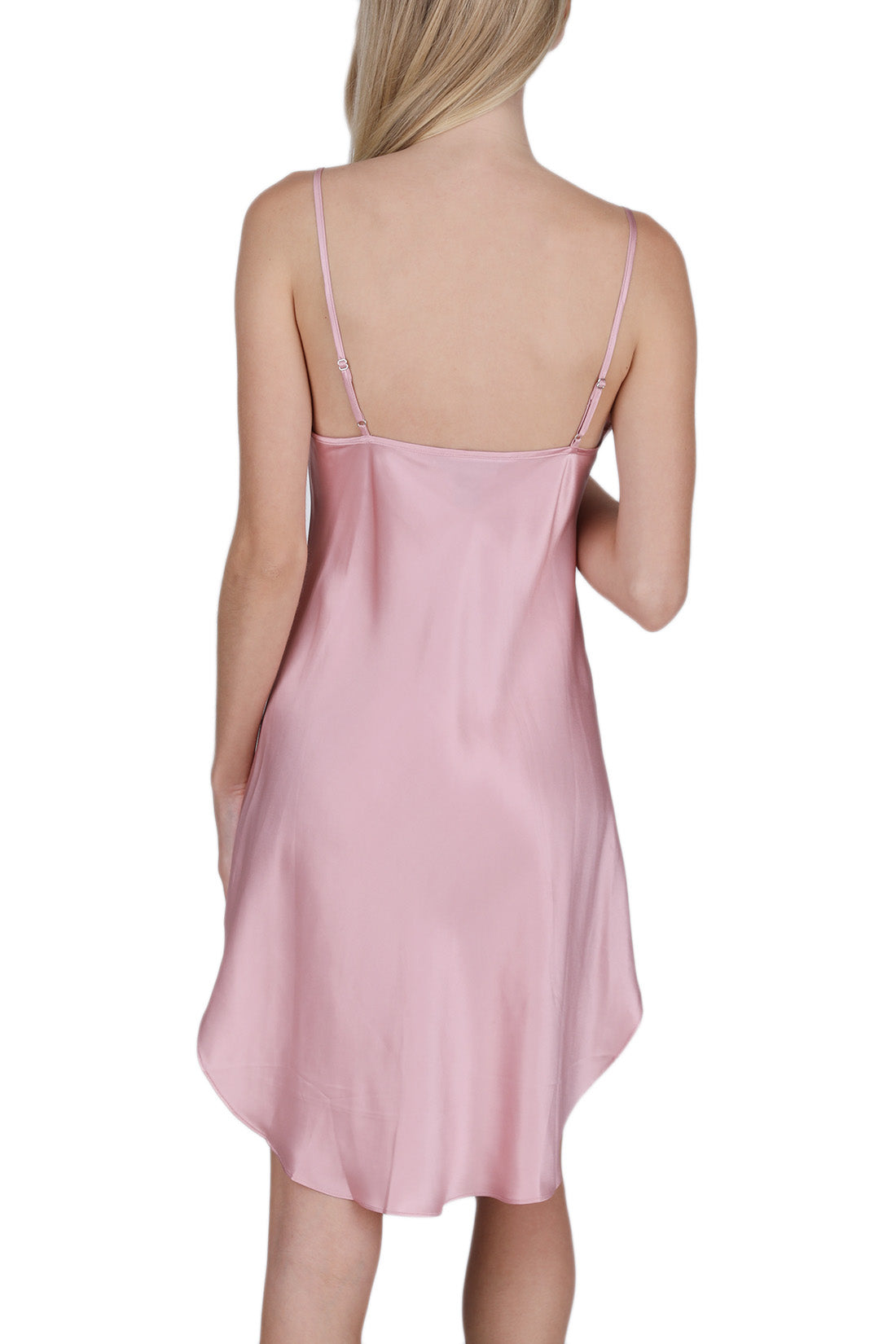 Women's 100% Silk Slip with Shirttail -OSCAR ROSSA