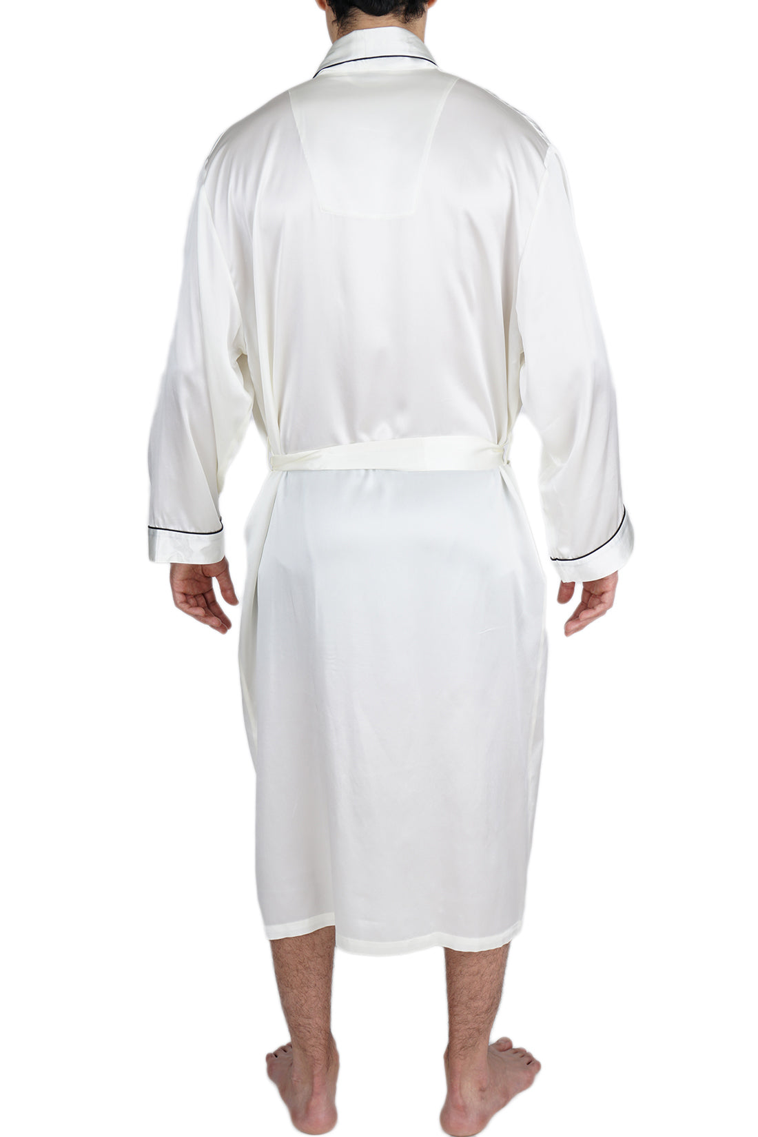 Men's Silk Sleepwear 100% Silk Long Robe