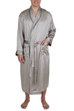 Oscar Rossa Men's Luxury Silk Sleepwear 100%Silk Long Robe Kimono