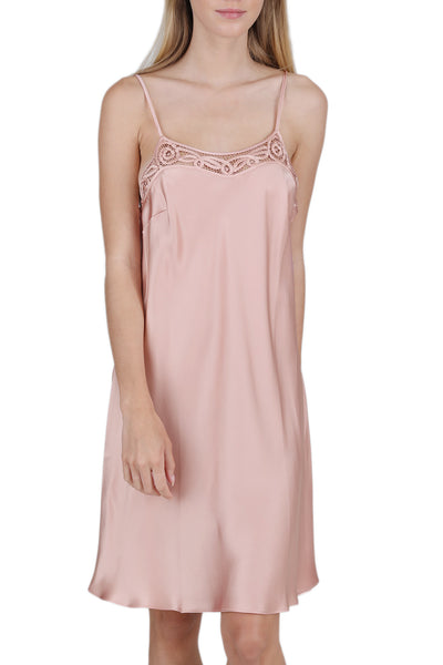 Women's Luxury Silk Sleepwear Dress 100% Silk Slip Chemise Babydoll Lingerie Nightgown -