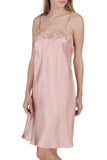 Women's 100% Silk Chemise with Handmade Lace -OSCAR ROSSA