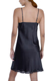 Oscar Rossa Women's Luxury Silk Nightgown 100% Silk Slip Chemise Lingerie with Lace -