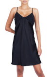 Oscar Rossa Women's Luxury Silk Nightgown 100% Silk Slip Chemise Lingerie with Charming Chest Design -OSCAR ROSSA