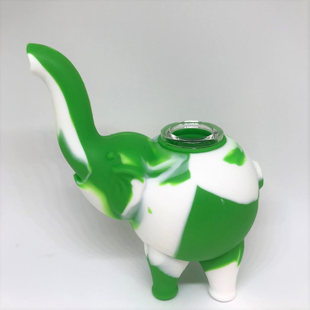 Elephant Themed Silicone Hand Pipe