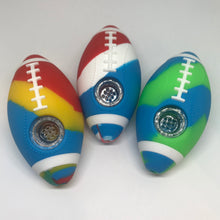 Load image into Gallery viewer, Football Themed Silicone Hand Pipe