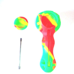 silicone hand pipe with glass bowl