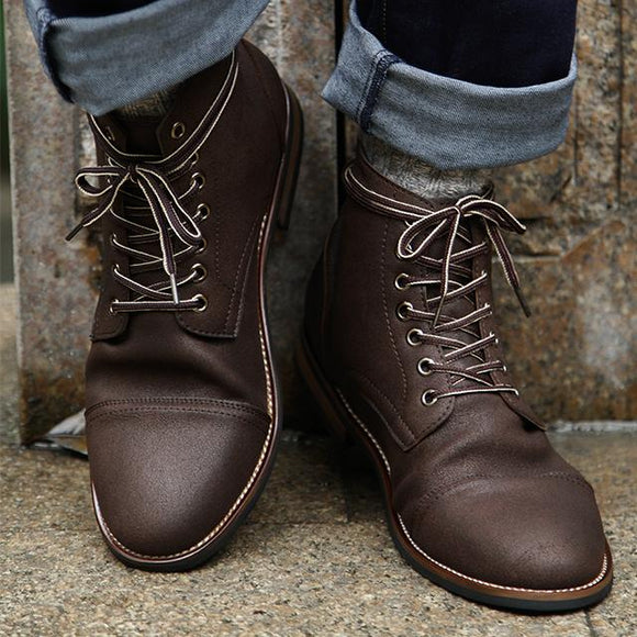 Shoes - High Quality Men's Vintage British Style Martin Boots