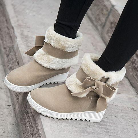Cute Comfortable Warm Folding Tube Fur Boots