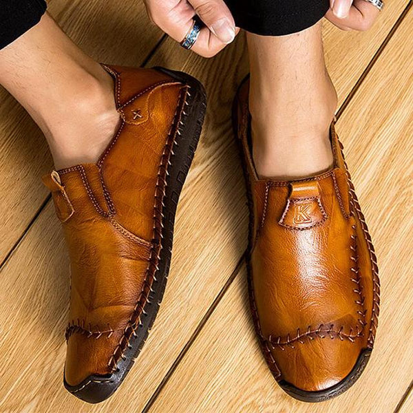 Shoes - 2019 New Arrival Men's Fashion Sewing Casual Business Flats Shoes