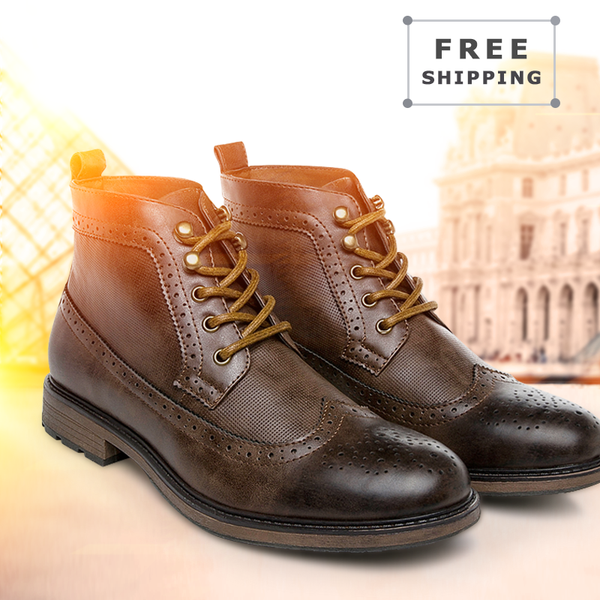 Brogue Fashion Winter Lace-up Handmade Business Shoes