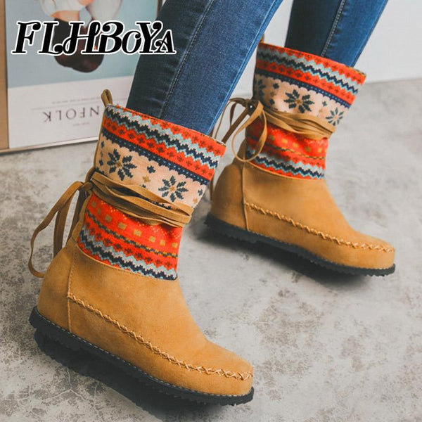 Women's Shoes - Fashion Women's Mid-Calf Elastic Band Boots