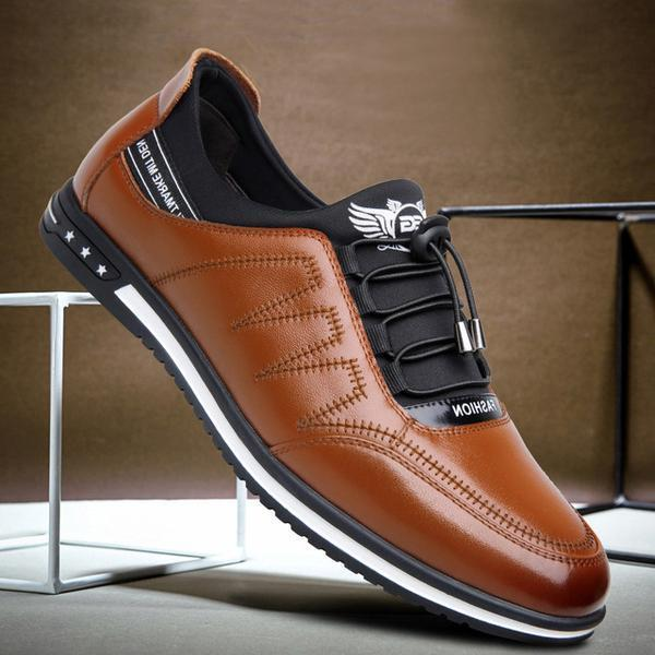 Shoes - Mens Casual Fashion Lace-up Leather Shoes