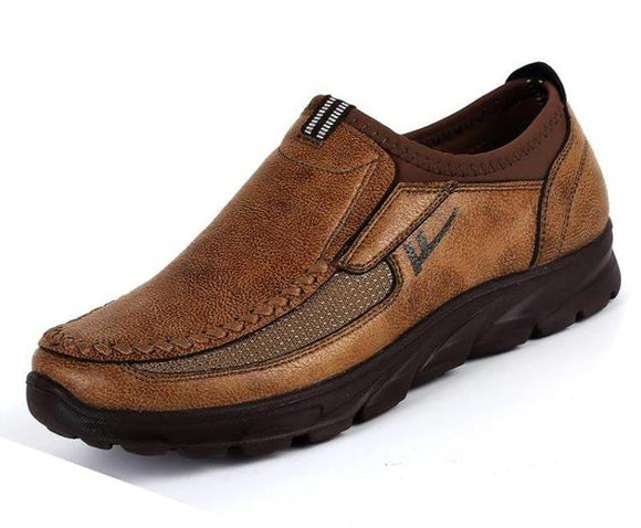 Men's Shoes - Casual Quality Leather Loafers Slip-on Shoe