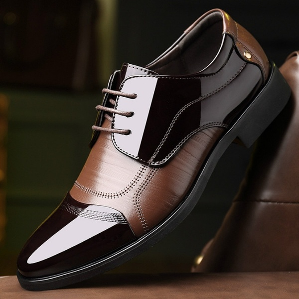 Shoes - 2018 Men's Patent Leather Oxford Dress Shoes