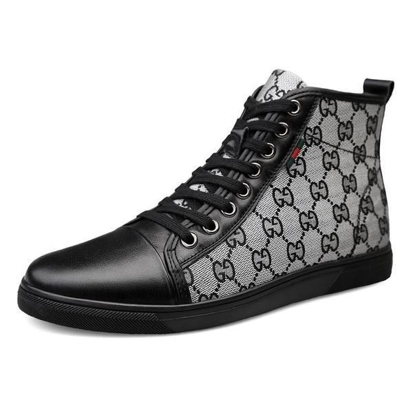 2019 Fashion Men New arrival Genuine Leather High Top Business Shoes
