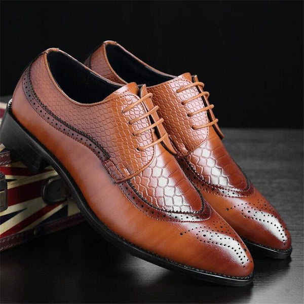 Men's Shoes -  Lace-up Bullock Business Dress Men Oxfords Shoes(Buy 2 Get 10% off, 3 Get 15% off Now)