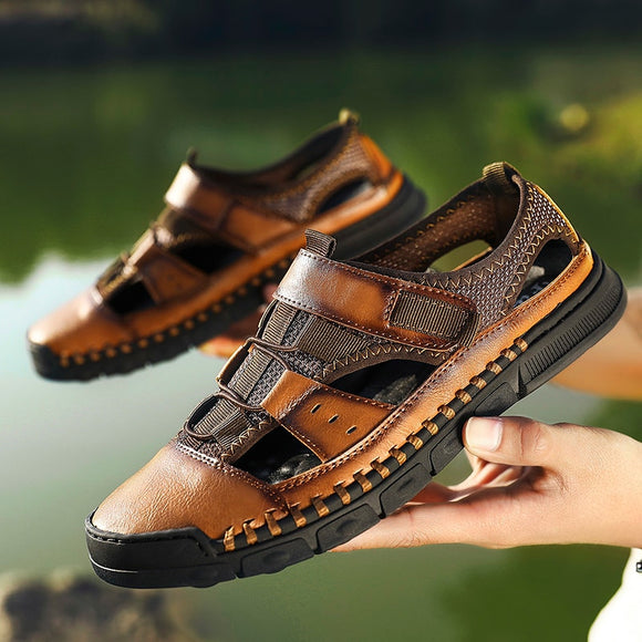 Men Shoes - Genuine Leather Cowhide Men Sandal(Buy 2 Get 10% off, 3 Get 15% off Now)
