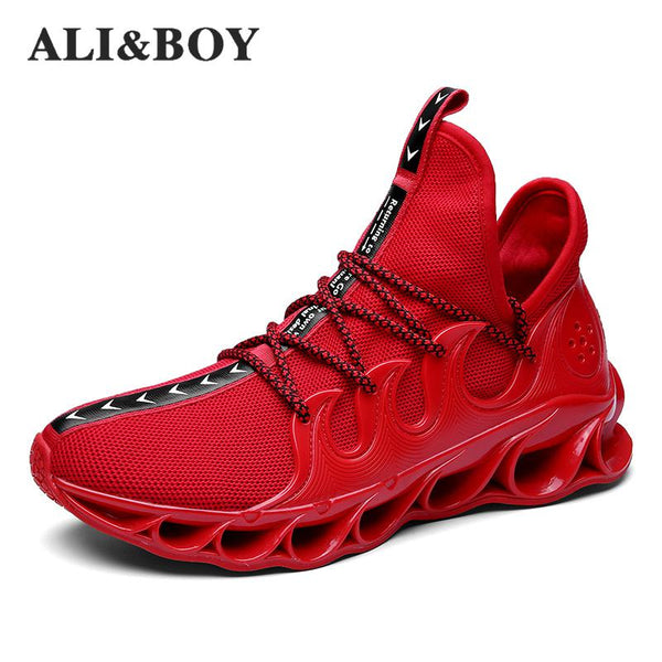 Men's Shoes - High-quality Lace-up Athietic Breathable Male Sneakers