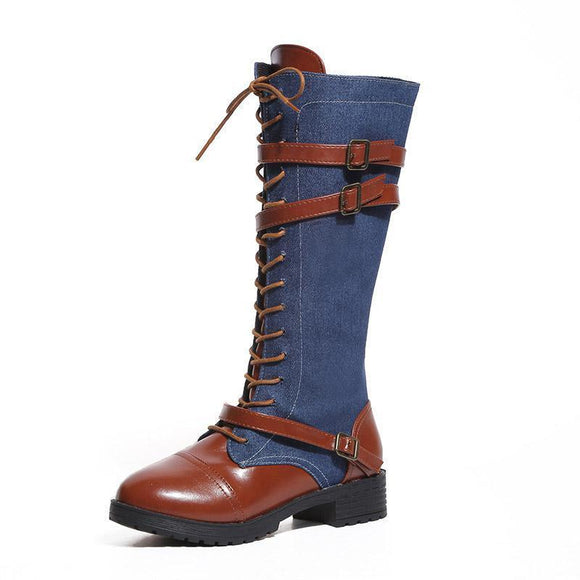 Boots - 2019 New Round Head Buckle Woman Boots