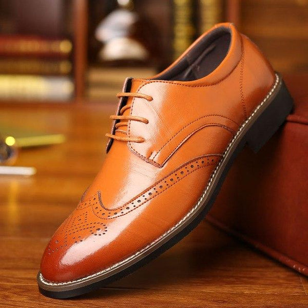 Shoes - Luxury Brand Men's Business Leather Shoes