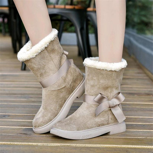 Women's Shoes - Women's Cute Warm Middle Tube Boots