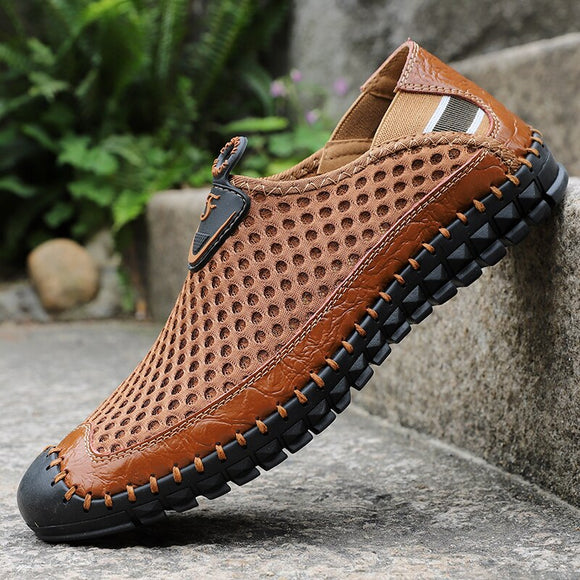 Jollmall Men Shoes - Leather Summer Casual Men Sandals(Buy 2 Get 10% off, 3 Get 15% off Now)