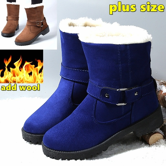 Shoes - Fashion Plus Size Women's Snow Boots