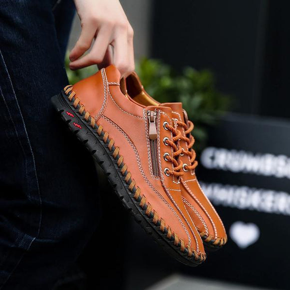 Men's Shoes - 2019 Fashion New Breathable Genuine Leather Men Shoes