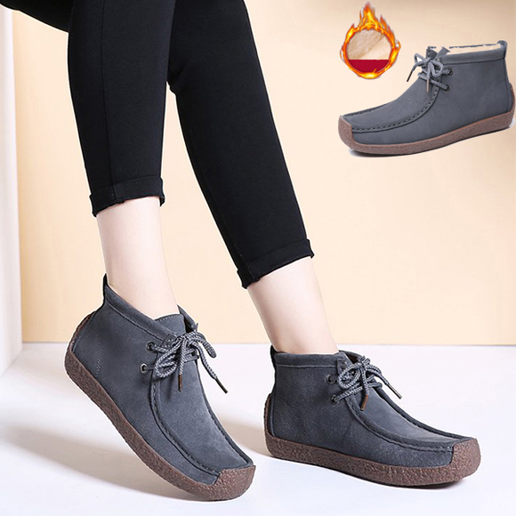 2019 New arrival Women Non-slip Fur Boots Lazy Snails Shoes