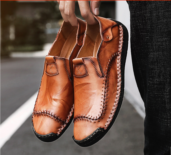 Men's Shoes - 2019 Fashion Big Size Slip on Flats Loafers Moccasins