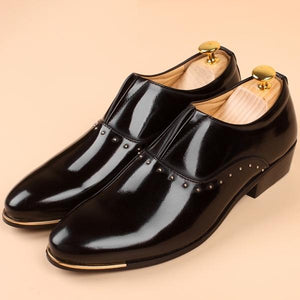Men's Fashion Business Leather Pointed Toe Wedding Casual Dress Shoes