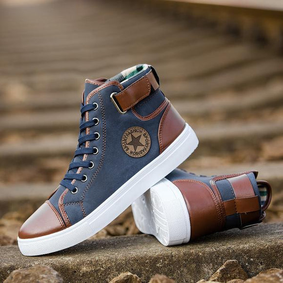 Men's Shoes - 2019 Men's Fashion Winter Casual Canvas Shoes