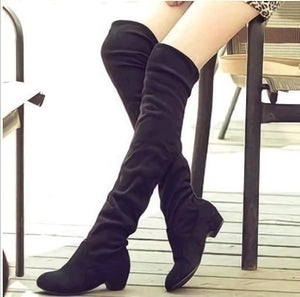 Shoes - Women's Fashion Over the Knee Boots