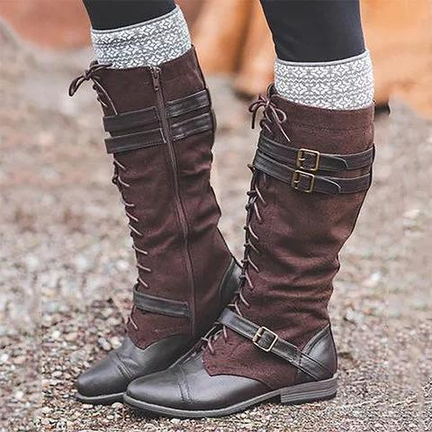 Shoes - Women's Fashion Mid Calf Casual Boots