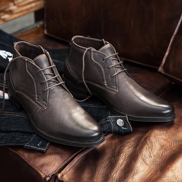 Men Shoes - Classic Gentleman High Top Ankle Boot