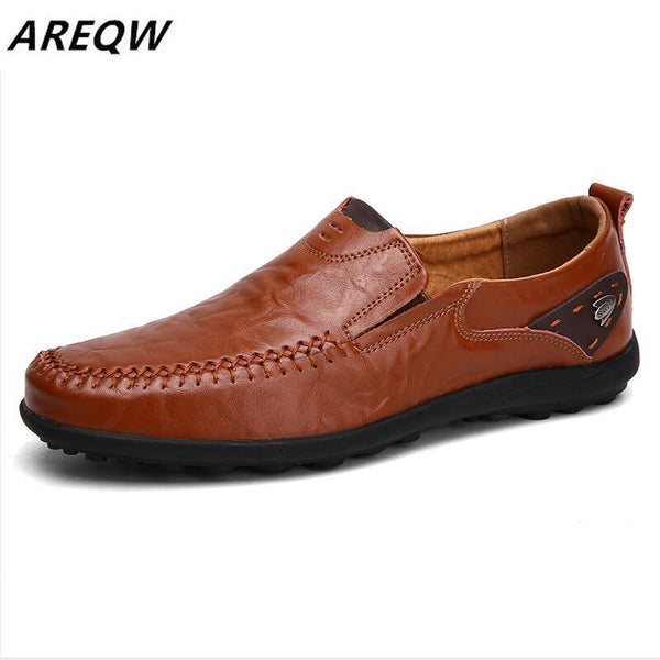 Men's Shoes - Leather Loafers Soft Moccasins Men Shoes