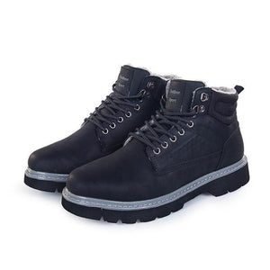 Shoes - High Quality Winter Snow Waterproof Leather Boots