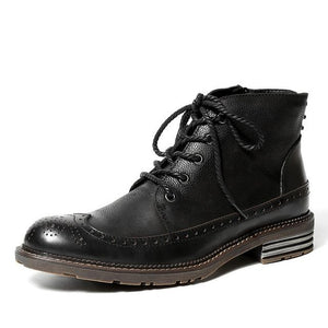 British Style Genuine Leather Handmade Boots