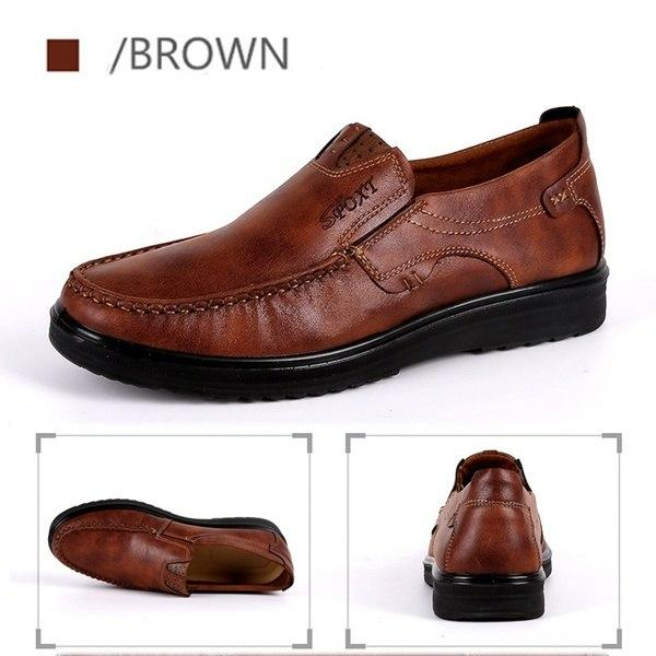 Shoes - Men's Plus Size Breathable Soft Leather Casual Loafers