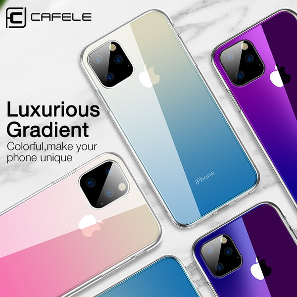Jollmall Phone Case - Luxury Tempered Glass Gradient Colorful Phone Cover