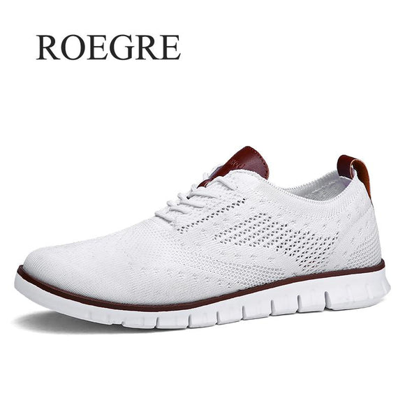 Men Shoes - Solid Shallow Lace Up Lightweight Soft Men Sneakers Shoes