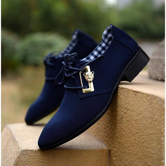 Top Fashion Brand Lace-up Men Suit Dress Shoes