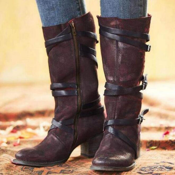 Shoes - Fashion Vintage Women's Knee High Boots
