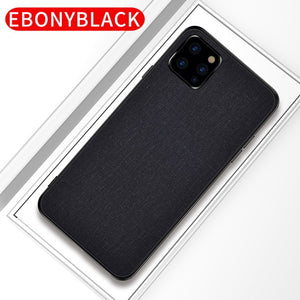 Phone Case - Luxury Skin Soft Silicone edge fabric back cover for iPhone 11