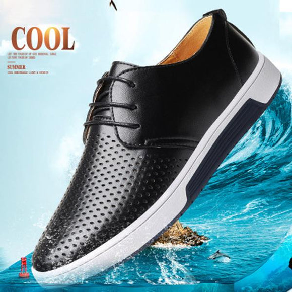 Shoes - 2019 Hot Sale Breathable Genuine Leather Men Shoes