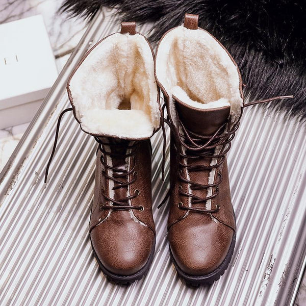 Women's Boots - Fashion Retro Martin Boots