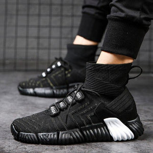Men's Shoes - High Top Knit Breathable Sock Sneakers