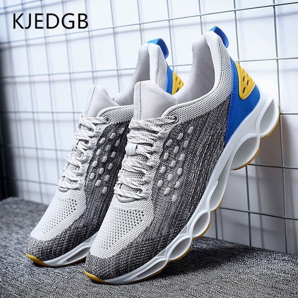 Men's Shoes -  TPU Soles Flyknit Mesh Breathable Men Casual Shoes