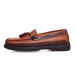 Men's Shoes - Fashion Mens' Genuine Leather Slip on Oxford Casual Boat Shoes