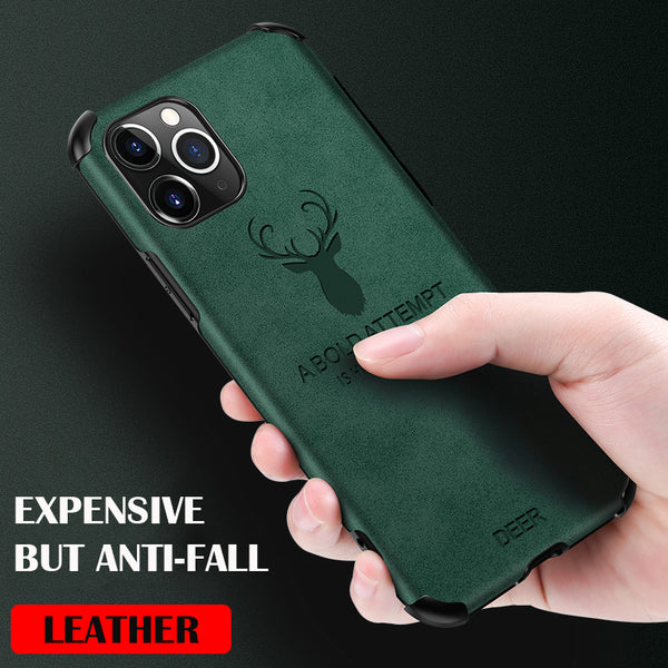 Jollmall Phone Case - Leather Deer Phone Case For iPhone